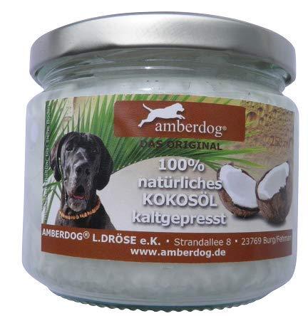 Kokosöl gegen Zecken für Hunde, Katzen und andere Tiere 250ml von Amberdog® – Das ORIGINAL - 2