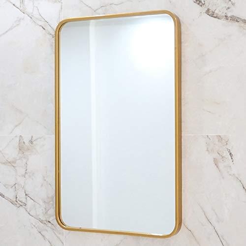 Kad Bathroom Mirror Wall Mounted Vanity Mirror Clear Image Stylish And Beautiful Gold 80cm Amazon Co Uk Diy Tools