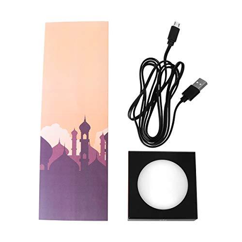 Uonlytech 1pc Novela y Creativo Lámpara de Escritorio de luz Nocturna Musulmana Decoración de Escritorio Luz Decoración arquitectónica Lámpara de Dormitorio (Arquitectura Musulmana de Oro)