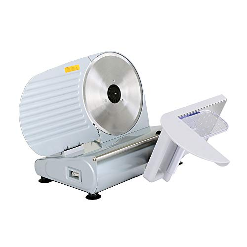 KITCHENER Meat Deli Cheese Food Slicer 7.5″ inch Professional Stainless Steel Blade Electric Heavy Duty Gear Driven 230V 200Watt 50Hz