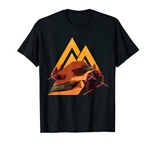 Fraktal-geometrisches Vogel-Tier-Tier-Grafik-Geschenk T-Shirt