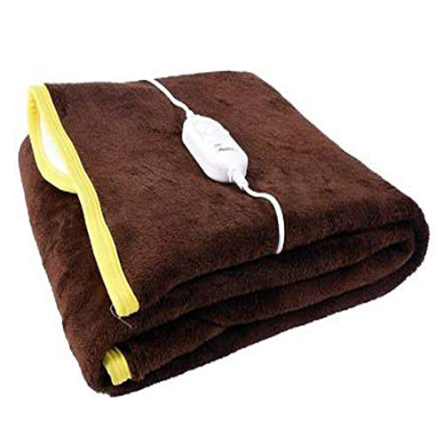 ARTSY HOME Premium 100% Shock Proof and Heating Electric Blanket Single Bed Warmer (BROWN)
