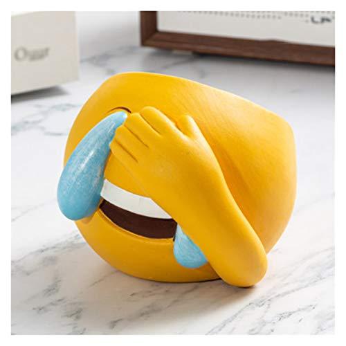 ZAZA Keramik-Aschenbecher Emoji-Tischtisch-Aschenbecher-Persönlichkeit Und Nette Zigaretten-Aschenbecher Für Heimbüro (Color : D)