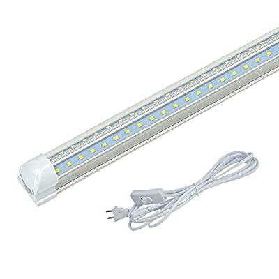 JESLED T8 LED Tube Light Fixture V Shape 5000K Daylight