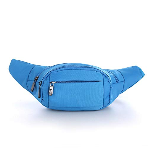 NKns Men and Women Nylon Chest Bag Multi-Functional Casual Couple Sports Pocket BlueRucksack Mit Trinksystem