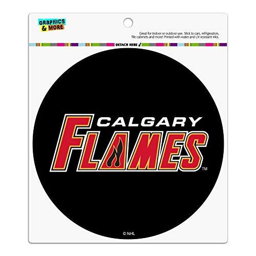 Graphics and More NHL Calgary Flames Logo Automotive Car Refrigerator Locker Vinyl Circle Magnet