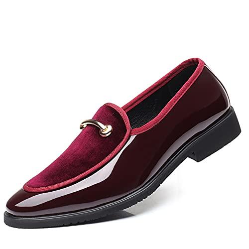 Machengxix Nj Sapato masculino social social social social social social social social social social Oxford sapatilha (cor: vermelho, tamanho do calçado: 7)