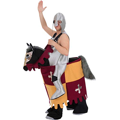 Nines d'Onil Costume da Uomo Carry Me Knight Riding Fearless Middle Ages Carnevale sulle Spalle