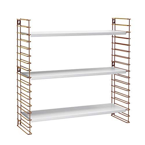 Tomado Zeitloses und modulares Wandregal, Kupfer/weiß, 70x21x68 cm