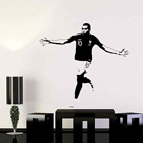 DIY Vinyl Wandaufkleber Fußballspieler Fußballstar Sportwagen Kinderzimmer Wohnkultur Frankreich Kylian Mbappé Kunst Aufkleber Poster Junge Geschenk