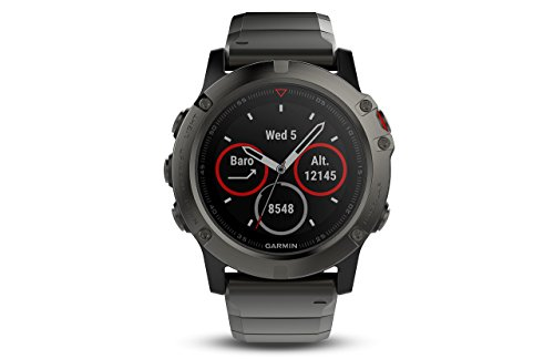 Garmin Fenix 5X Sapphire - Slate Gray with Metal Band (Renewed)