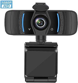 Castries Full HD 1080p Auto Focus USB 2.0 Webcam w/ Mic & Privacy Cover