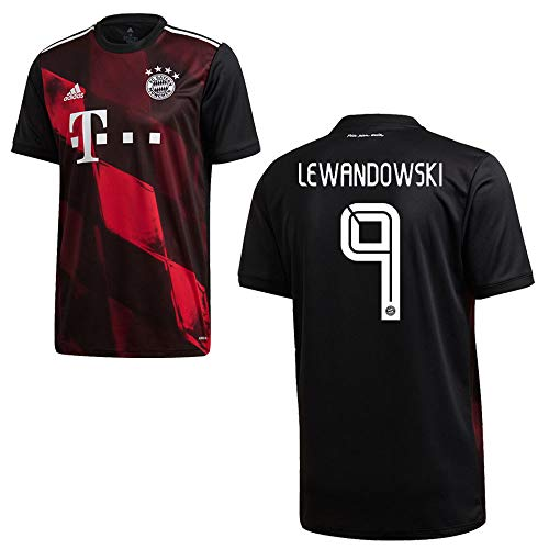adidas Bayern Trikot 3rd Herren 2021 - Lewandowski 9, Größe:S