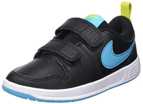 Nike Jungen Unisex Kinder Pico 5 Tennis Shoe, Black/Chlorine Blue-High Voltage-White, 27 EU