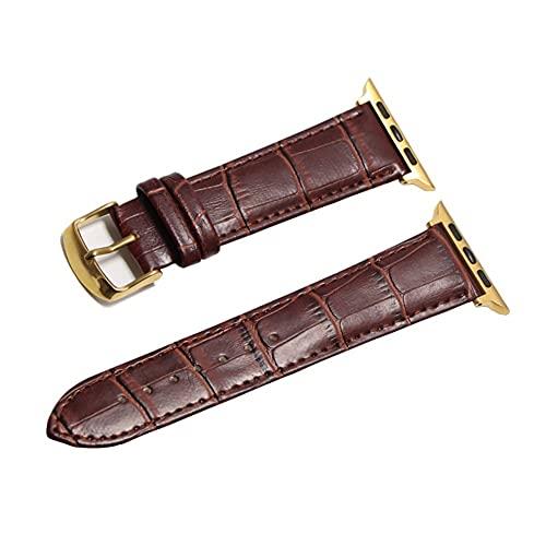 HANRUO Accesorios para relojes de diseño, correas de 42 mm, correa de 38 mm (color de la correa: marrón dorado, ancho de la correa: 44 mm)