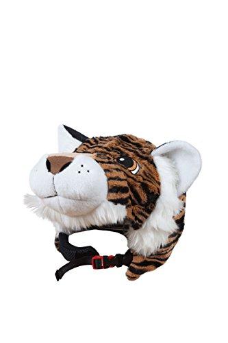 Kopfbedeckung Tiere Tiger Plüsch T.U. - Helmabdeckung für Erwachsene Kinder Ski