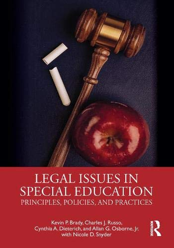 Compare Textbook Prices for Legal Issues in Special Education 1 Edition ISBN 9781138323308 by Brady, Kevin