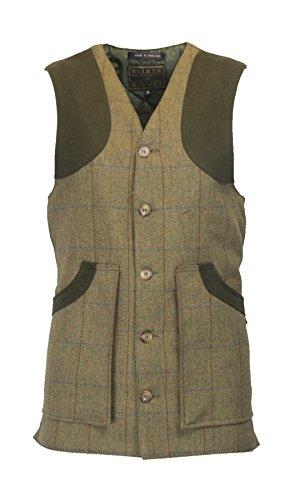 Walker and Hawkes Winston - Chaleco de Tweed para Hombre - Inspirado en la hípica y la Caza - Verde Bosque
