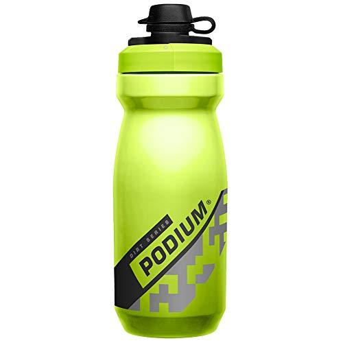 CAMELBAK Podium Dirt Bottle - Green, 610ml / 0.6L 21oz Bicycle Cycling Cycle Biking Bike Riding Ride Mountain MTB Sport Gym Water Drink Flask Bidon Vessel Dust Mud Cap Reusable Plastic BPA Free