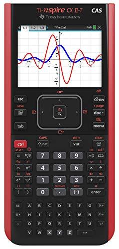 Texas Instruments - Calcolatrice grafica formale Ti-Nspire CX II-T, Nero/Rosso