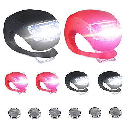 6 Stück Kinderwagen Licht Vivibel LED Lampe Licht Sicherheitslicht Silikon Leuchte Kinderwagen Blinklicht Taschenlampe für alle Kinderwagen Bergsteiger Kinderwagen-Zubehör-1