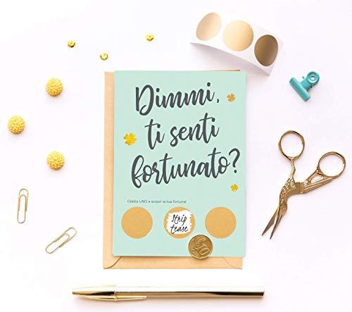 Biglietto San Valentino per lui originale Regalo personalizzato uomo Gratta e vinci Regalo simpatico di compleanno Anniversario di matrimonio coppia Festa del Papà. Italiano