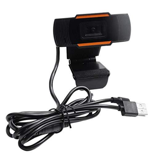 Fransande - Cámara de vídeo USB 2.0 para ordenador portátil, con grabación de vídeo Webcam HD, Webcam y MIC