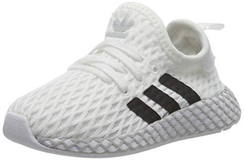 adidas DEERUPT Runner I, Scarpe da Ginnastica, Ftwr White/Core Black/Grey Two F17, 22 EU