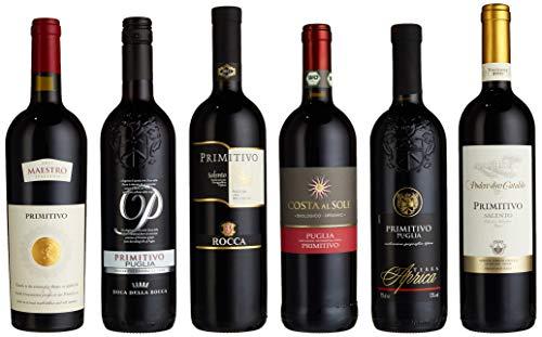 Probierpaket Primitivo zum Kennenlernen| Weinpaket mit italienischem Rotwein (6 x 0,75 l) | Perfektes Rotwein Tastingset