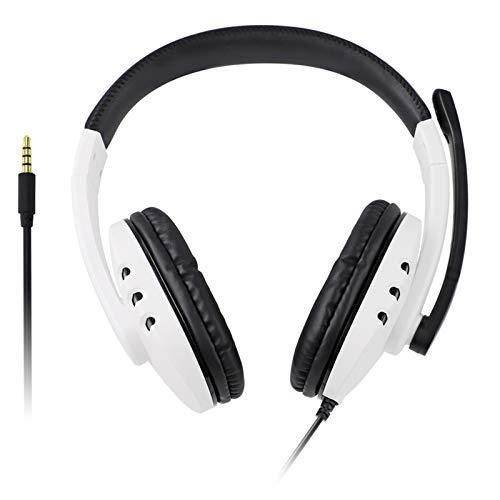 3. Auriculares para Juegos con Cable de 5 Mm Auriculares Estéreo para Colocar sobre La Oreja con Micrófono con Cancelación de Ruido para Ps5 X- Box Pc