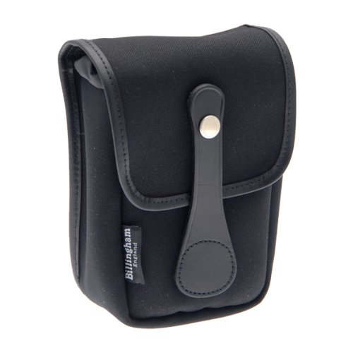 Billingham Avea 5 Black Canvas Pouch with Black Leather Trim