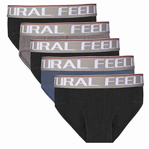 Natural Feelings Slips Herren Unterhosen Herren Slip aus weicher Baumwolle Herren Unterhose Pant Unterwäsche