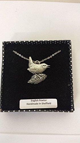B6 Wren - Collar chapado en platino en 3D (45,7 cm, hecho a mano con orgullo en el embalaje detallado)