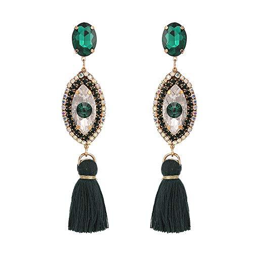 Design Tassel Earrings Wedding Eye Pendant Earrings For Women Bohemian Elegant Party Drop Earrings Dangle Jewelry