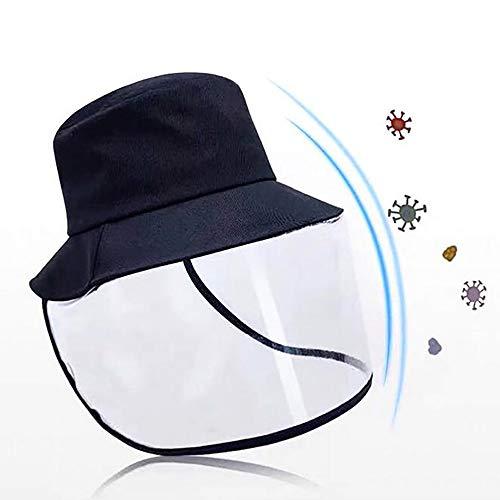 Zedmy Multifunktions-Schutzhüte, Anti-Spitting Gesichtsmaske Abdeckung, Abnehmbare Baseball-Cap&Maske, Wasserdicht &Staubdicht Outdoor-Sonnenschatten Fischer Mütze 1stk.