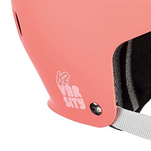 K2 unisex_adult VARSITY coral Inline Skates Helmet, L (59-61cm)