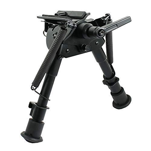 """West Lake 6"""" to 9"""" Rifle Pivoting Bipod Adjustable and Foldable with Spring Return (HD1806P)"""