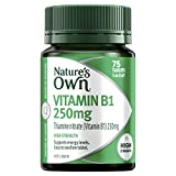Nature's Own Vitamin B1 250mg - Supports Energy Levels and Nervous System Function