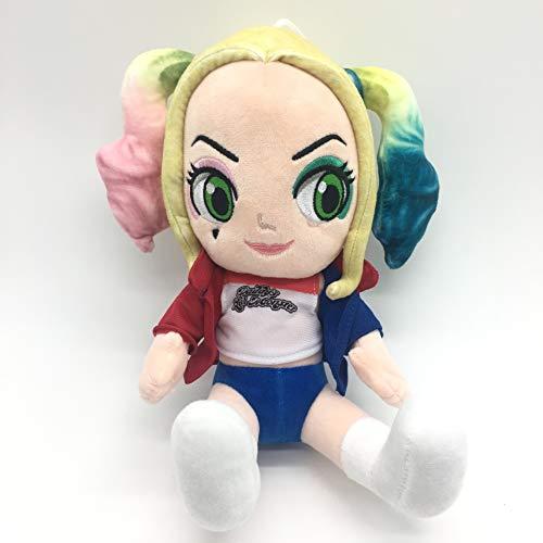 wwwl Plüschtier Cartoon Anime Suicide Squad Harley Quinn Plüsch Spielzeug Baumwolle Weiche Kleine Mädchen Puppe Nettes Spielzeug für Baby Mädchen Weihnachten Geschenk