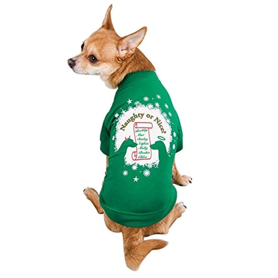 Zack & Zoey Naughty or Nice Pet Tee Shirt - Green