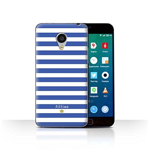 Stuff4Phone Case/Cover/Skin/mzumx4p/Custom Stripes/Striped Collection Étoile Rayure Bleu
