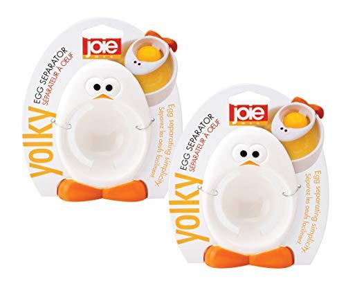 HIC Harold Import Company, Inc 96035/2 MSC International Joie Yolky separador de huevos, silicona sin BPA, 2.75 x 2 pulgadas, juego de 2, talla única, color blanco