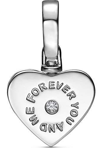 JETTE Damen-Charm 925er Silber rhodiniert Zirkonia One Size 87606732