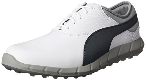 Puma Ignite Golf - white-turbulence-high risk red, Größe:10