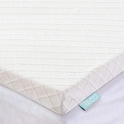 Recci Memory Foam Mattress Topper King Size Bed - Mattress Topper King Size for Back Pain with Removable & Washable Bamboo Viscose Zipped Cover, CertiPUR-EU (UK King Size - 150x200x5cm)