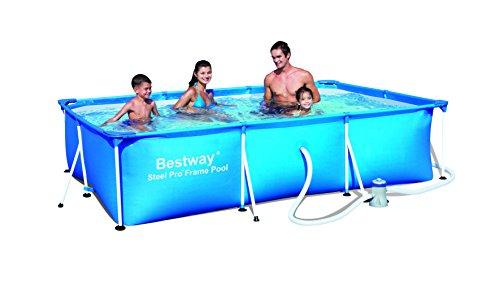 """Bestway 56078 Frame Pool Stahlrahmenbecken 300 x 201 x 66 cm \""""Splash Junior\"""" mit Filterpumpe NL"""