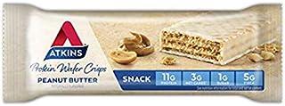 Atkins Protein Wafer Crisps, Peanut Butter, 5 Little Bars (Pack of 2)