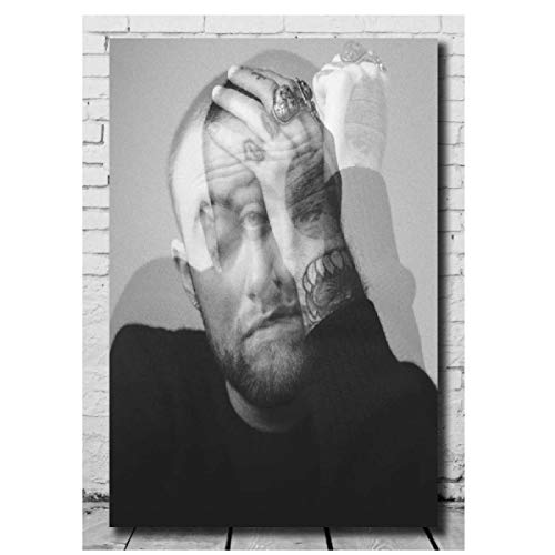 Mac Miller Rapper Music Album Star Painting Canvas Wall Art Posters and Prints Pictures for Living Room Home Decor Print on canvas 50x70cm unframed
