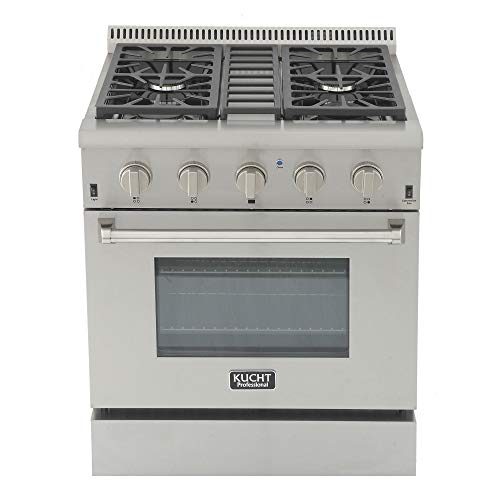 Kucht KRG3080U/LP-S Professional 30' 4.2 cu. ft. Propane Gas Range with Sealed Burners and...