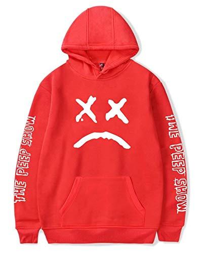 ShallGood Unisex Kapuzenpullover Männer Frauen Lil Peep Hoodie Emo Rap Coole Pullover Crybaby Spotlight Straßen Fashion Sweatshirt Für Mädchen Und Jugenden Rot X-Large